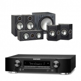Marantz NR1609 Black 7.2 Channel AV Receiver Monitor Audio Bronze 2 AV 5.1 Speaker package Black