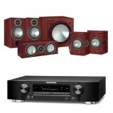 Marantz NR1609 Black 7.2 Channel AV Receiver with Monitor Audio Bronze 2 AV 5.1 Speaker package Rosemah