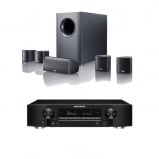 Marantz NR1609 Black Slim 7.2 Channel AV Receiver with HEOS with Canton Movie 75 5.1 Surround Sound System