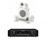 Marantz NR1609 Black AV Receiver in Black with HEOS and Focal Dome Flax 5.1 & Sub Air in White