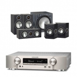 Marantz NR1609 Silver AV Receiver with Monitor Audio Bronze 2 AV 5.1 Speaker package Black
