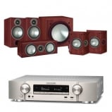 Marantz NR1609 Silver AV Receiver with Monitor Audio Bronze 2 AV 5.1 Speaker package Rosemah