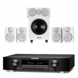 Marantz NR1710 Slim 7.2Ch AV Receiver Black with Wharfedale DX-2 5.1 Speaker Package White