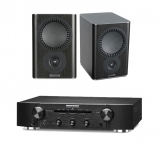 Marantz PM5005 Integrated Amplifier Black with Mission QX1 Bookshelf Speaker Pair Black