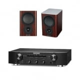 Marantz PM6006 Integrated Amplifier Black with Mission QX2 Bookshelf Speakers Pair Rosewood