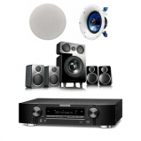 Marantz NR1609T1B Atmos 5.1.2 Package Wharfedale DX-2 5.1 Speaker with Yamaha Pair NSIC600 Ceiling Speakers