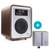 Ruark R1 MK3 Deluxe table top radio with Bluetooth in Walnut with Backpack II Battery Pack