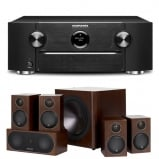 Marantz SR6013 9.2 Channel AV Receiver with Monitor Audio Radius R90HT1 5.1 Speaker Package - Walnut