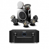 Marantz SR7013B AV Receiver with HEOS and Focal Dome Flax 5.1.2 Home Cinema System in Black
