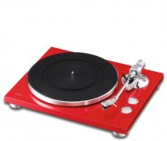 TEAC TN300 2 Speed Analog Turntable in Red