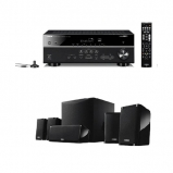 Yamaha MusicCast RXD485 5.1 Channel AV Receiver with NSP41 5.1 Speaker package in Black