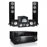 Yamaha RXA3080 9.2 Channel Aventage AV Receivers Black with Monitor Audio Silver 200 AV12 5.1 Speaker Package Black