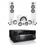 Yamaha RXA3080 9.2 Channel Aventage AV Receivers Black with Monitor Audio Silver 200 AV12 5.1 Speaker Package White