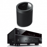 Yamaha MusicCast RXV685 7.2 Channel AV Receiver in Black with Yamaha MusicCast 20 Speaker in Black