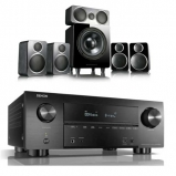 Denon AVRX3500H AV Receiver with Wharfedale DX-2 5.1 Speaker Package in Black