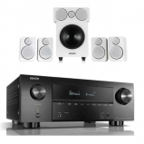 Denon AVRX3500H AV Receiver with Wharfedale DX-2 5.1 Speaker Package in White