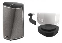 Denon HEOS 1 HS2 Black and HEOS 1 Go Pack in Black