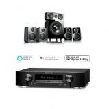 Marantz NR1509 Black 5.2 Channel AV Receiver with Wharfedale DX-2 5.1 Speaker Package Black