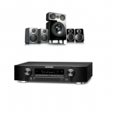 Marantz NR1609 Black AV Receiver With Heos Plus Wharfedale DX-2 5.1 Speaker Package Black