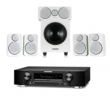 Marantz NR1609 Black AV Receiver with HEOS Black Plus Wharfedale DX-2 5.1 Speaker Package in White