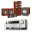 Denon AVCX6500H AV Receiver Silver with Monitor Audio Bronze 5 AV 5.1 Speaker package Rosemah