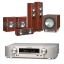 Marantz NR1609 Silver AV Receiver with Monitor Audio Bronze 5 AV 5.1 Speaker package Rosemah