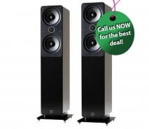 Q Acoustics 2050i Floorstanding Speakers in Gloss Black (1 Pair)