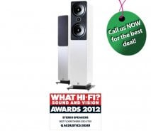Q Acoustics 2050i Floorstanding Speakers in Gloss White (1 Pair)