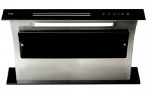 CDA 3D9BL 90cm Wide Downdraft Extractor In Black