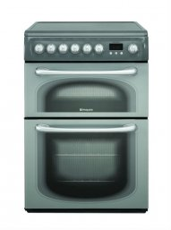 Hotpoint 60HEGS 60cm Wide Electric Double Oven Cooker with Ceramic Hob in Graphite