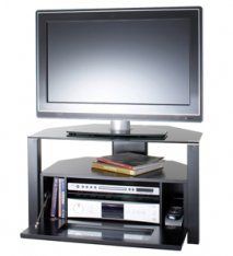 Alphason ABRD800 Ambri Cabinet Stand in Black for Screens up to 37''