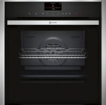 Neff B57VS24N0B Slide and Hide Electric Single Oven in Stainless Steel with VarioSteam