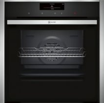Neff B58CT28N0B Slide and Hide Electric Single Oven in Stainless Steel