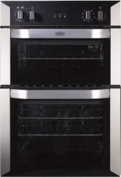 Belling BI90MF 60cm Built In Electric Double Oven in Stainless Steel