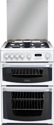Hotpoint  Cannon CH60GCIW 60cm Gas Double Oven in White