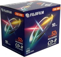 Fujifilm P10DCRCA06A 80min 700MB CD-R (10 x Jewel Case)