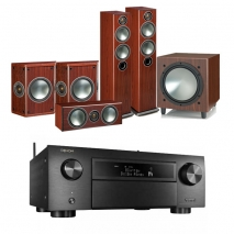 Denon AVCX6500H Black AV Receiver Black with Monitor Audio Bronze 5 AV 5.1 Speaker package Rosemah