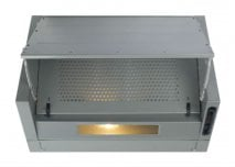 CDA EIN60FSI 60cm Wide Integrated Extractor In Silver