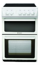 Hotpoint HAE51PS 50cm Wide Electric Cooker in Polar White