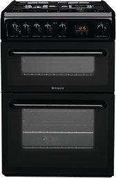 Hotpoint HAG60K 60cm Freestanding Gas Cooker in Black with FSD
