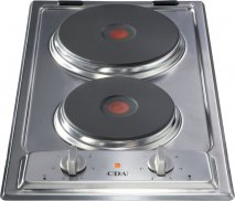 CDA HCE340SS 30cm Domino Electric Hob in Stainless Steel With 5Yr Parts Guarantee