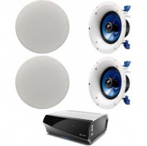 Denon HEOS Amp Wireless Multi Room System with 2 Pair of Yamaha NSIC600 In-Ceiling Speakers