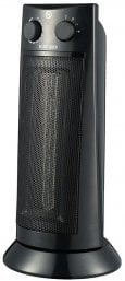 Pro-Elec HG00918 2000W 19inch Floor Standing Tower Fan Heater in Black