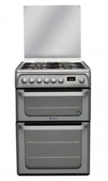 Hotpoint HUD61GS 60cm Freestanding Dual Fuel Cooker in Graphite