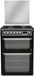 Hotpoint HUD61KS 60cm Freestanding Dual Fuel Cooker Black