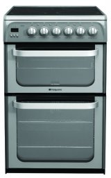 Hotpoint HUE52GS 50cm wide Electric Cooker in Graphite