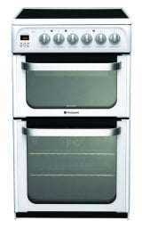 Hotpoint HUE53PS 50cm Freestanding Electric Cooker in Polar White