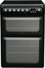 Hotpoint HUE61KS 60cm Wide Freestanding Electric Cooker in Black