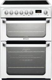 Hotpoint HUE61PS 60cm Freestanding Electric Cooker in Polar White