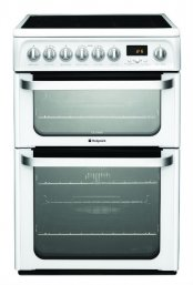 Hotpoint HUE62PS 60cm Wide Electric Cookers in Polar White